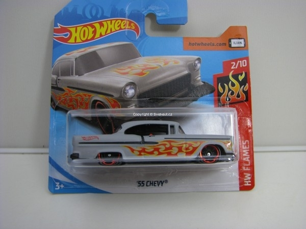 55 Chevy 2/10 HW Flames Hotwheels 2018